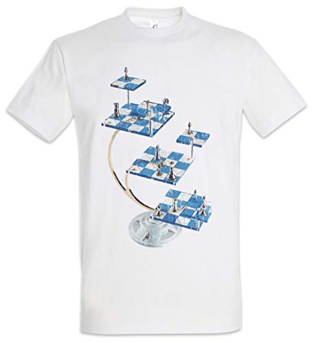 Urban Backwoods Star Chess Hombre T-Shirt Blanco Talla 5XL