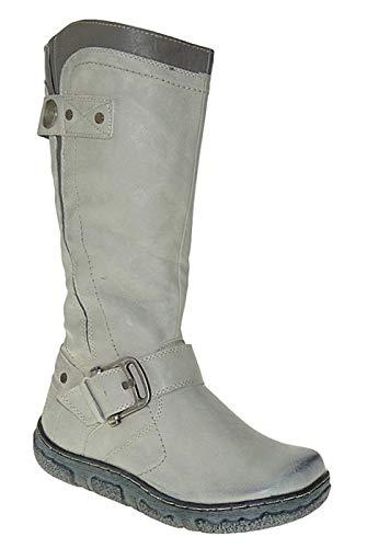 Bootsland 813 Winterstiefel Damenstiefel Stiefel Winterschuhe Damen, Schuhgröße:36