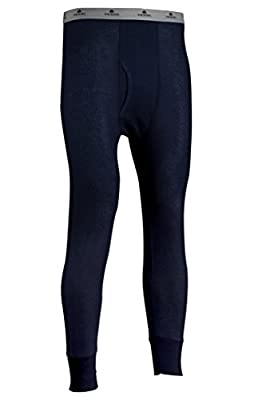 Indera Men's Traditional Long Johns Thermal Underwear Pant, Navy, Large