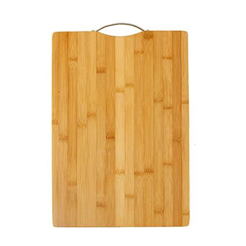 Kaimeilai Tabla de Cortar de bambú Bio, Tabla de Cortar Gruesa de Primera Calidad, Tabla de Cortar de bambú Maciza, Ranura para Jugo, bambú Antibacteriano Hecho a Mano, Tablas de Cocina duraderas