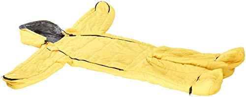 Semptec Urban Survival Technology Schlafsack Overall: Kinder-Schlafsack mit Armen und Beinen, Größe M, 160cm, gelb (Campingschlafsack)