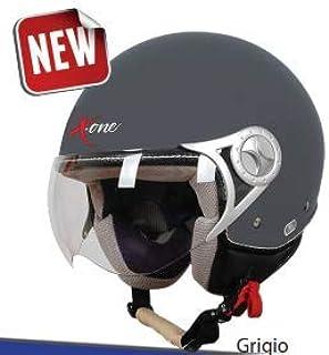 BHR 13933 Casco Moto Demi-Jet Modelo 801 con Linea One Grigio Opaco XL