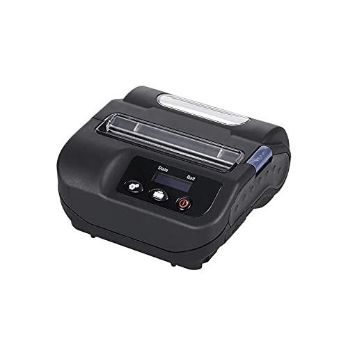 CuteLife Imprimante à Reçu Imprimante Thermique Portable Wireless BT Imprimante Mobile Imprimante De Réception D étiquette pour Restaurant Supermarché (Couleur : Black, Size : One Size)