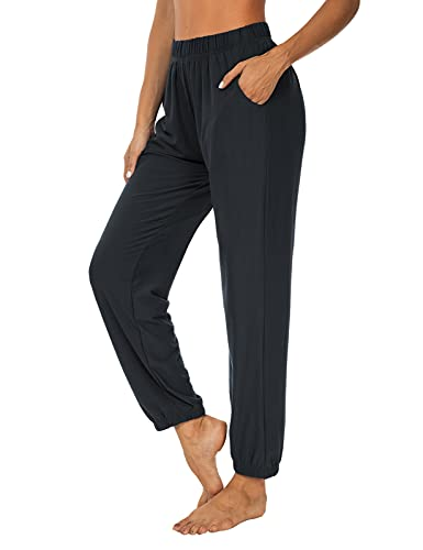 KEEPBEAUTY Womens Active Yoga Sweatpants Loose Workout Joggers Pants Comfy Lounge Pants with Pockets Dark Gray L