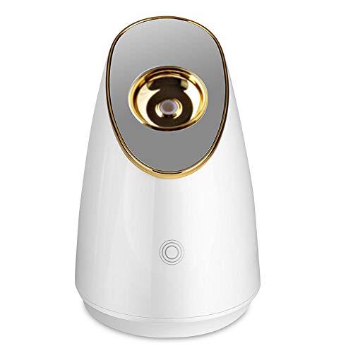 Nano Ionic Facial Steamer Mist Warm, 100ml Facial Steamer Nano Steam SPA Spray Moisturizer Face Sprayer for Women Professional Face Beauty Tool(EU Plug-Or)