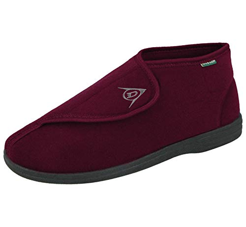 Dunlop - Zapatillas de estar por casa para hombre, color rojo, talla 8 UK