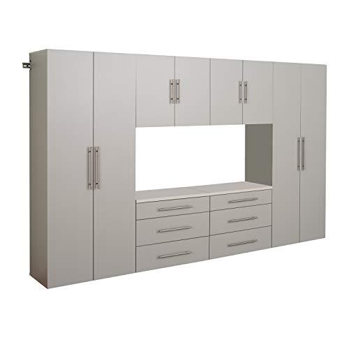 Prepac Storage Cabinet Set, 6 pc, Light Gray