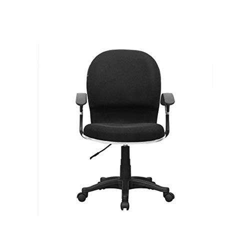 HOLPPO-Desk Silla Silla de Oficina en casa Hogar Esponja Relleno Suave y cómodo Teniendo Transpirable Sillas Peso 200 kg Escritorio (Color : Negro)