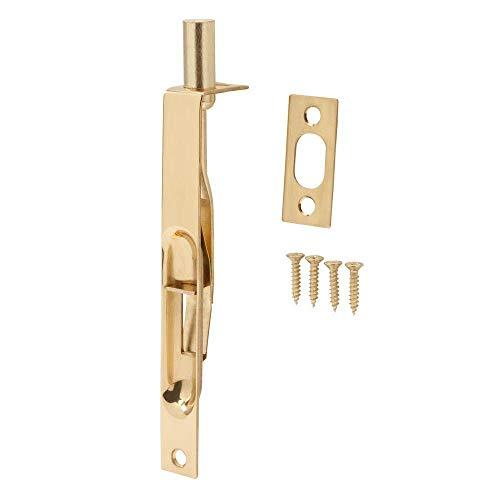 Everbilt 6 Inches Bright Brass Square Corner Flush Bolt - Double Door Latch - French Door Flush Bolt
