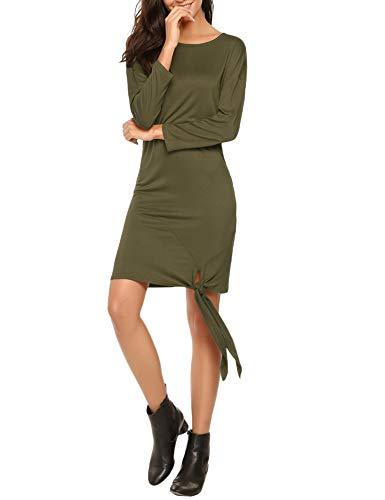 Beyove - Vestito - Tunica - Maniche a 3/4 - Donna verde verde militare