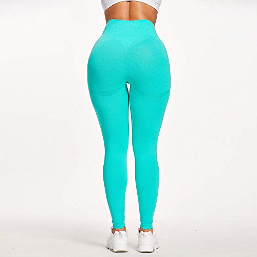 ArcherWlh Yoga Pants For Women High Waist,Trousers for Women Pants Seamless Leggings Push Up Leggins Sport Women Fitness Yoga Waist Pants Elastic Trousers Gym Girl Tights-9093-Lake Green_S