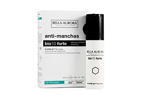 Bella Aurora Bio 10 Forte Crema Anti-Manchas Facial Piel Mixta-Grasa SPF 20, Anti-edad, Despigmentante Cara, 30 ml