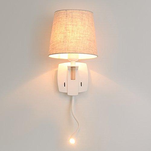SKC Lighting-Applique murale Avec l'éclairage de mur de lumière de mur moderne simple de lumière de mur de commutateur indépendant/lampe de chevet de corps de fer forgé pour la chambre à coucher