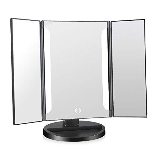 G'z 1X/2X/3X Vergrootglas Verlichte Make-up Tri-Fold Vanity Lights 180 & Deg;Gratis Rotatie Touch Screen Dimmen Tafelblad Schoonheidsspiegel