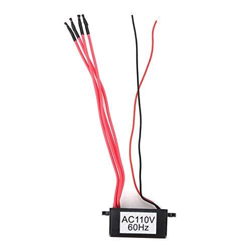 Mini purificatore d'aria per generatore di ioni negativi con 4 filtri negativi per ionizzatore al plasma ad alta densità di linea negativa(AC110V)
