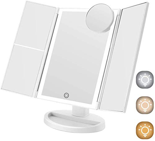COSMIRROR Trifold Lighted Makeup Mirror