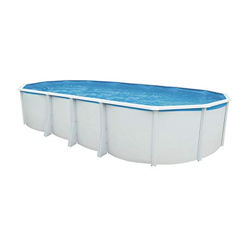 Steinbach Juego de Pared Pool Acero Highline Ovalado, Color Blanco, 730x 366x 132cm, 28900L, 012624