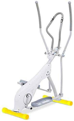 N&I Elliptical Cross Trainer Elliptical Trainer Machine Trainer for Home Use Ejercise Fitness Machine Indoor Home Fitness Cardio Workout Machine (Color:White Size: 130.5x64x158cm)