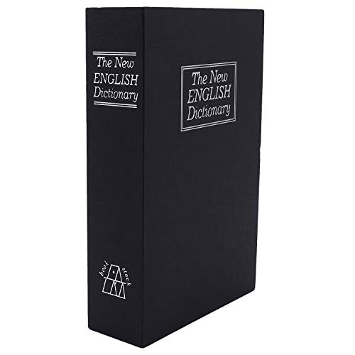 KU Syang Caja fuerte de libro con cerradura de combinacion Caja fuerte portatil segura l del libro de diversion del diccionario Bueno para guardar dinero joya pasaporte medio