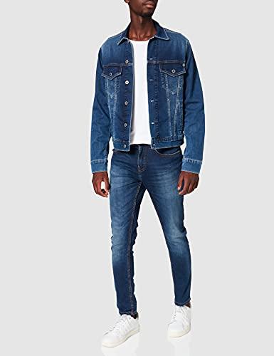 Pepe Jeans Pinner Pm400908 Chaqueta Vaquera, Azul (Gymdigo Medium Used Denim Gt1), Small para Hombre