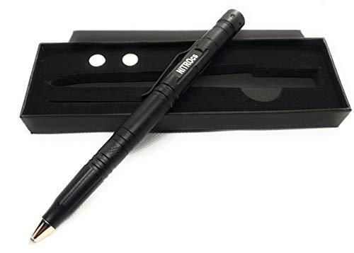 NITROcs PROs1 Business Survival Mehrzweck Kugelschreiber Tactical Pen Verteidigung und Glasbruch Säge Stift LED Lampe