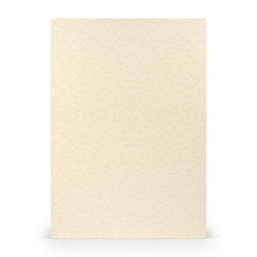 PAPERADO 25 fogli di carta A4 – Vellum Panna 160 g/m² – Carta per bricolage in 29,7 x 21 cm per pittura, artigianato e stampa