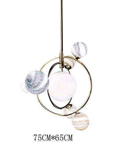 Kronleuchter Abgehängte Decke Deckenventilator Licht Erde Raum Nordischer Planet Postmodernes Schlafzimmer Restaurant Kreative minimalistische Persönlichkeit Kinder Wohnaccessoires