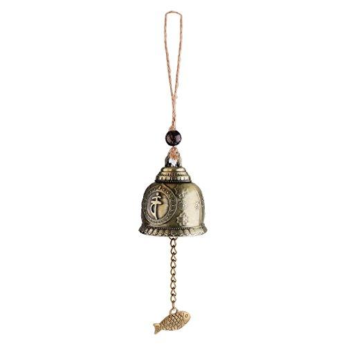 LOVIVER Glocke Windspiel Windglocke Klangspiel Garten Fengshui Deko Glücksbringer - Buddha