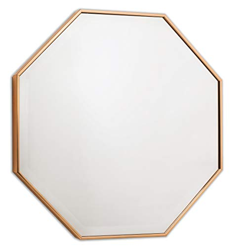 Wall Mirror - Octagon Frame for Entryway or Bathroom, Bronze Mirrors by -