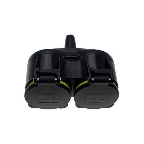 Doppelanschluss für Nassräume (selbstanschluss), GEL-013, Schwarz