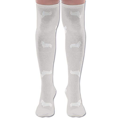 Ardenia Silhouette Dog Fabric Cute Dog Desi Athletic Tube Stockings Women's Men's Classics Knee High Socks Sport Long Sock