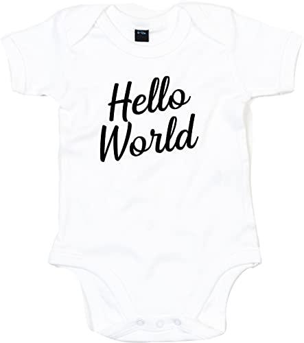 Kleckerliese Body pour bébé Motif Hello World - Blanc - 18-24 mois