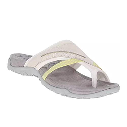 Chanclas para mujer, sandalias informales con parte superior de ante, zapatos planos para verano, interiores y exteriores, tallas 35-43