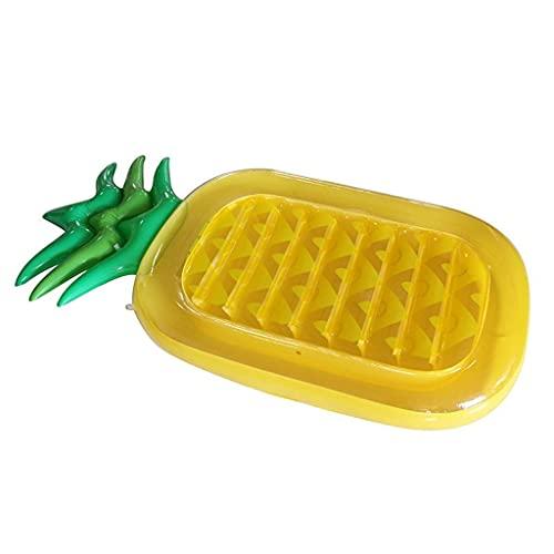 Hamaca flotante de agua PVC Piña inflable Drenaje flotante en la cama inflable recreativa Cama gruesa de la cama flotante inflable Inflatable Fila flotante de la piscina de los juguetes del verano al