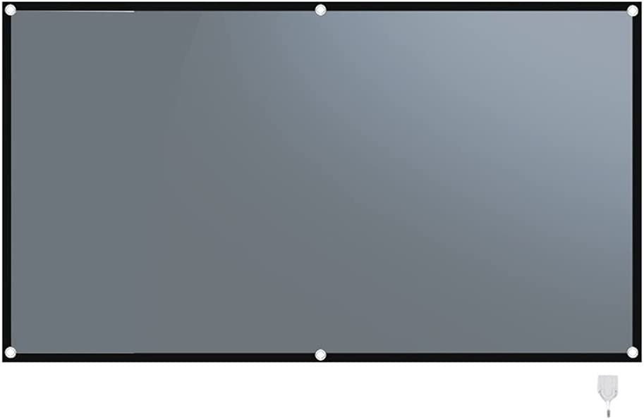 SHEDE Projector Screen 60/72/84/92/100/110/120/130/133Inch Foldable Projection Screen Metal Anti Light Curtain Home Outdoor Office 3D Projection Screen (Size : 100 inch)