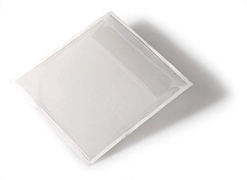 Durable 808019 Selbstklebetasche (Pocket fix, für CD/DVD, m.Klappe, 127 x 127 mm) 10 Stück transparent