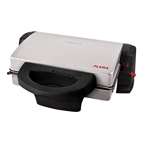 FLAMA 439FL Grill Magnus 1800W, Placas Grill Extraibles com Revestimiento Antiadherente, 4 Posiciones de Cocción, Superficie de Cocción: 28,5cm X 20cm