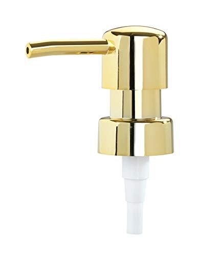 WENKO Recambio dispensador dorado, redondo - Bomba para el jabón, Plástico (ABS), 6.7 x 18 x 3.4 cm, Oro