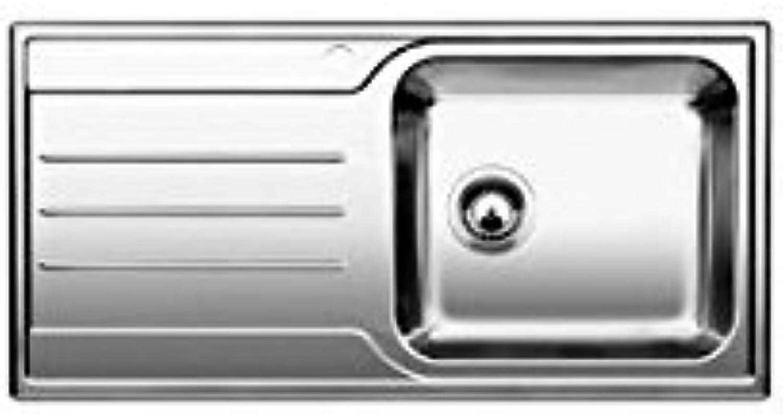 Weiß–Spülbecken einer mit Abtropfflche links 1612737Finish Edelstahl-100x 50cm