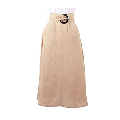 Audrey Hepburn-The Vintage Inspired Roman Holiday Linen Skirt (S, with Gift Box)