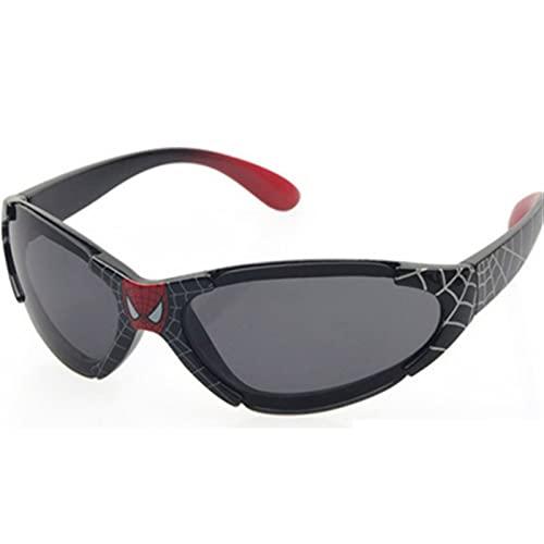 ASZX Gafas de Sol para niños Revestimiento de Seguridad para bebés para niños Moda Spiderman Niños UV400 Gafas Sombra UV Protección 713 (Lenses Color : 2, Size : One Size)