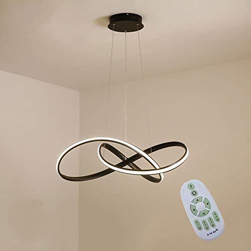 Lampada a sospensione a LED 45W dimmerabili Tavolo da pranzo Lampada a sospensione acrilico Nordic...