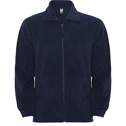 Chaqueta Polar con Cremallera para Hombre, Pirineo, Azul Marino (S)