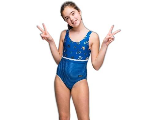 Harry Potter Badeanzug für Mädchen, Kinder Bademode Schwimmen Kostüm, Schwimmanzug Hogwarts Design, Geschenk für Mädchen, Größe 10 Jahre