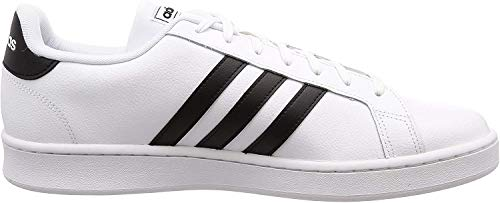 adidas Mens Grand Court Sneaker, Cloud White/Core Black/Cloud White, 42 EU
