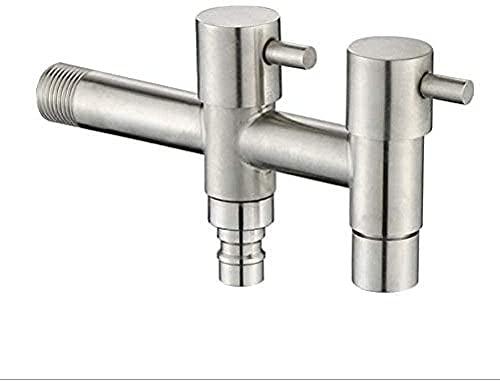 Grifo de la lavadora de acero inoxidable 304 grifo alargado doble orificio doble control multifuncional baño fregona grifo