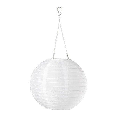 IKEA SOLVINDEN LED Solarhängeleuchte in weiß; Kugel; (30cm)