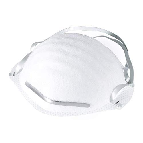 fghdf N95 Antivirenmaske FFP3 mit Atemventil, Filter 99% Bakterien und Staub,Kopfbedeckte Sicherheitsschutzmaske der Klasse FFP2 / FFP3 (weiß) (20pcs, FFP2) - 3