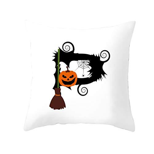 Beonzale Dekokissenbezug Halloween Pumpkin Dekorative Sofakissenbezug