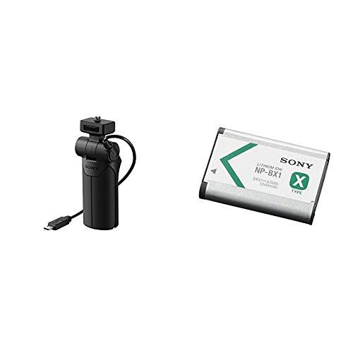 Sony VCT-STGR1 Poignée de Prise de Vue et trépied Noir & NP-BX1 Batterie Rechargeable Série X pour Appareil Compact Cybershot